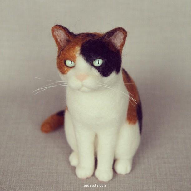 nekolabo 羊毛毡猫咪很生动