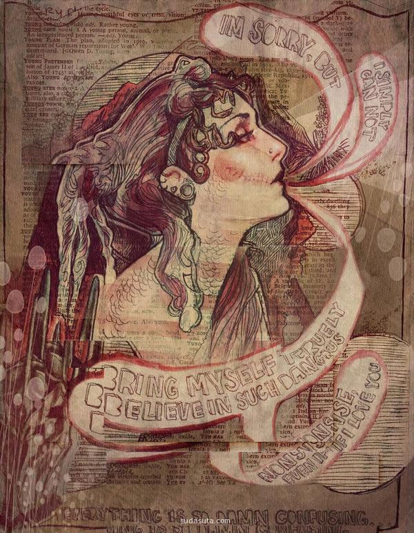 Audrey Benjaminsen 复古手绘欣赏