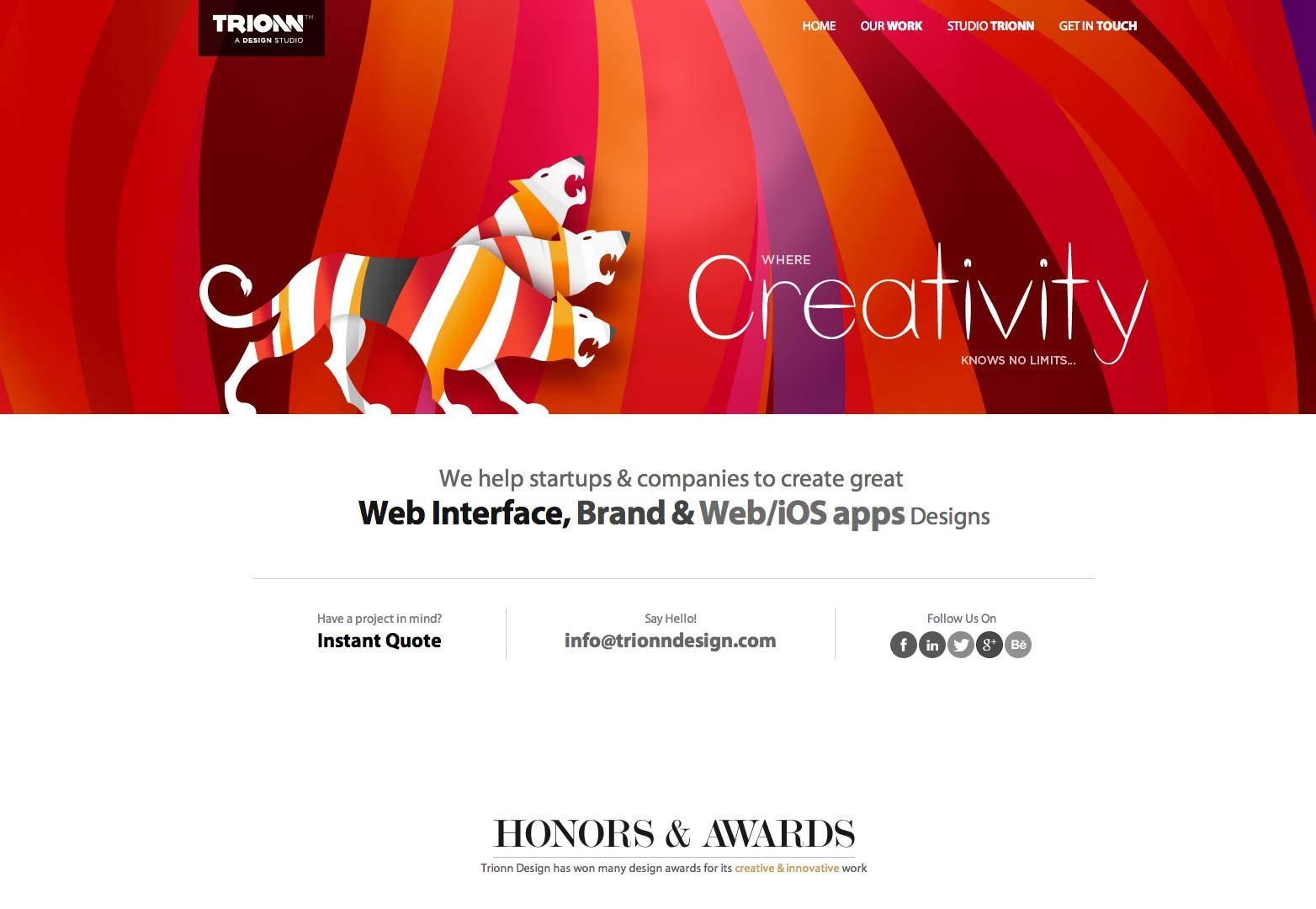 最新单页面网站设计欣赏