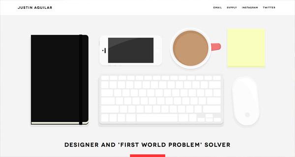 俯视桌面 创意网站欣赏