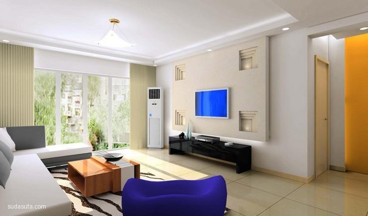 舒适时髦的现代的客厅设计欣赏