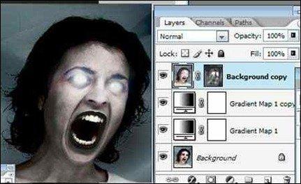 photoshop在线教程 人物妖魔鬼怪化