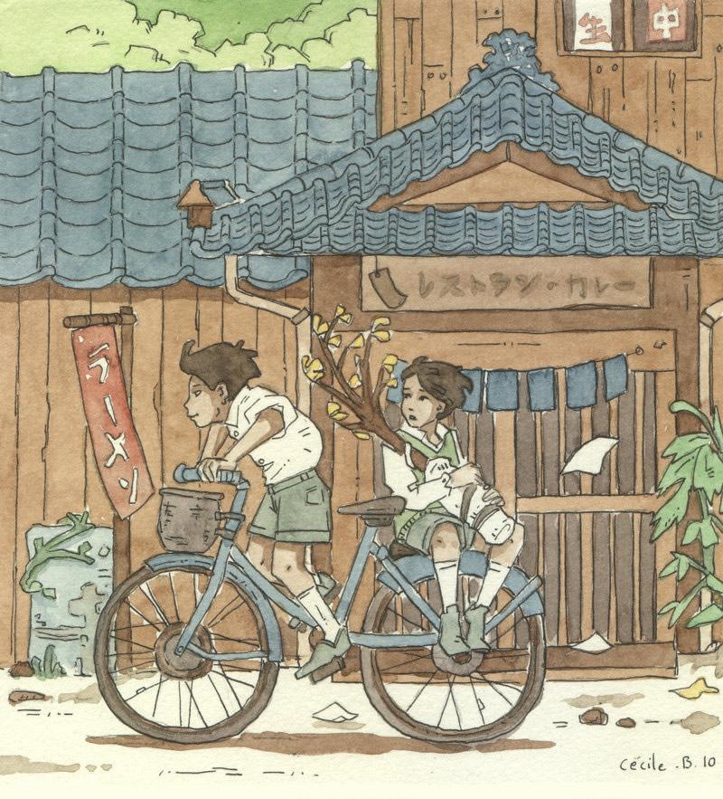 Cécile Brun 水彩卡通插画