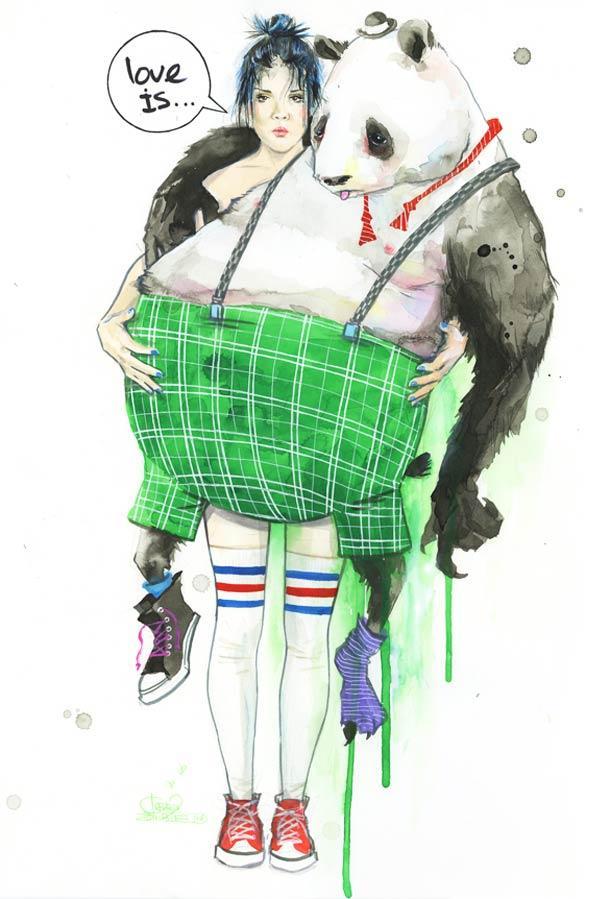 Lara Zombie 水彩插画欣赏