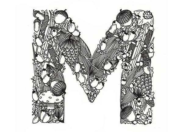 Mari Drivdal Lie 文字设计欣赏