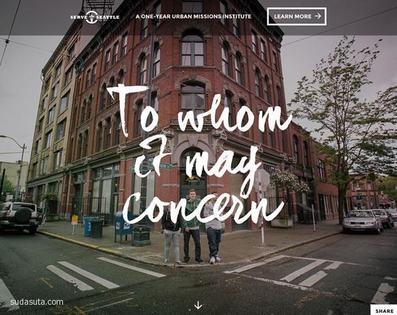 带有视觉滚动的大照片创意网站欣赏