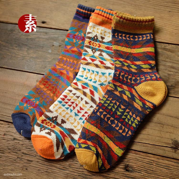 素人工作室 关于行走 原创袜子