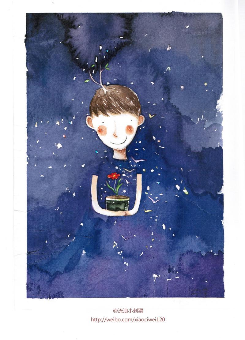 小刺猬 原创插画欣赏