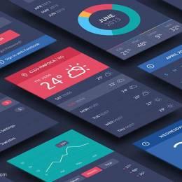 手机UI界面元素PSD素材免费下载