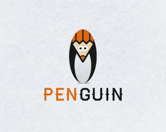 创意LOGO欣赏 绅士企鹅