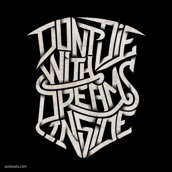Don't Die With Dreams Inside by Mister Doodle