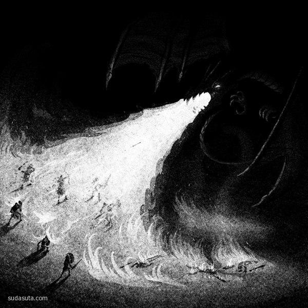 Brian Luong 超现实主义黑白插画欣赏