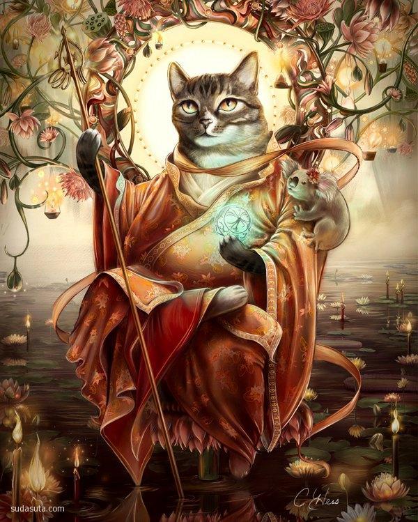 Christina Hess 历史中的猫咪