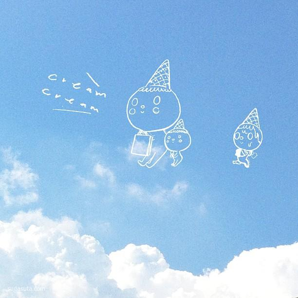 Kutekamera 云朵很有爱 创意摄影欣赏