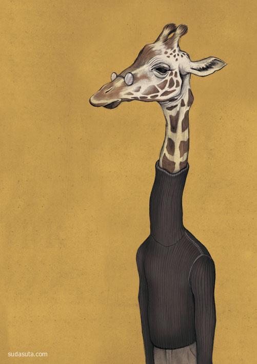 Matthias Seifarth 动物肖像插画欣赏