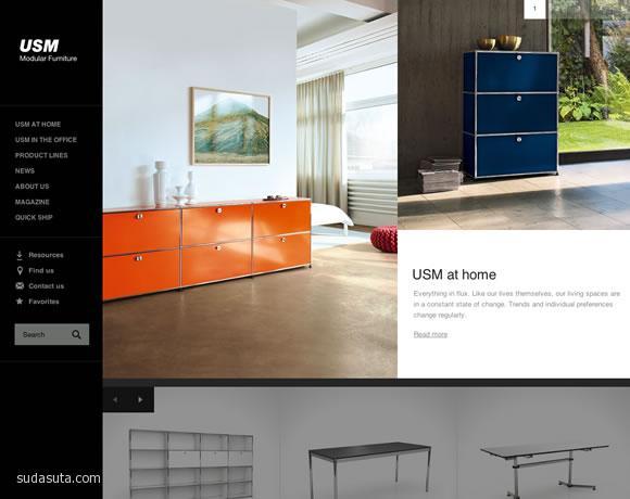 带有大幅照片的创意网站设计