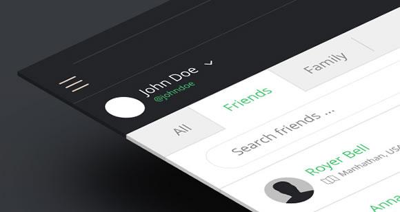 扁平化风格手机PSD 响应式设计设备PSD 名片展示PSD