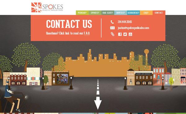联系我们页面设计欣赏