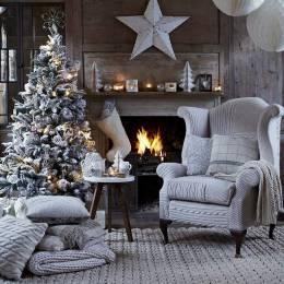 图片素材 热闹美丽的圣诞壁橱