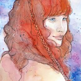 Jane-Beata 手绘水彩少女插画