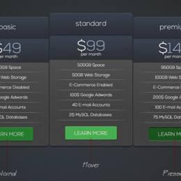 最新价格表单设计欣赏