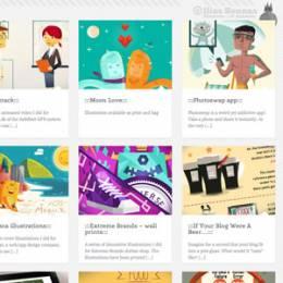 插画家在线作品集网站设计欣赏