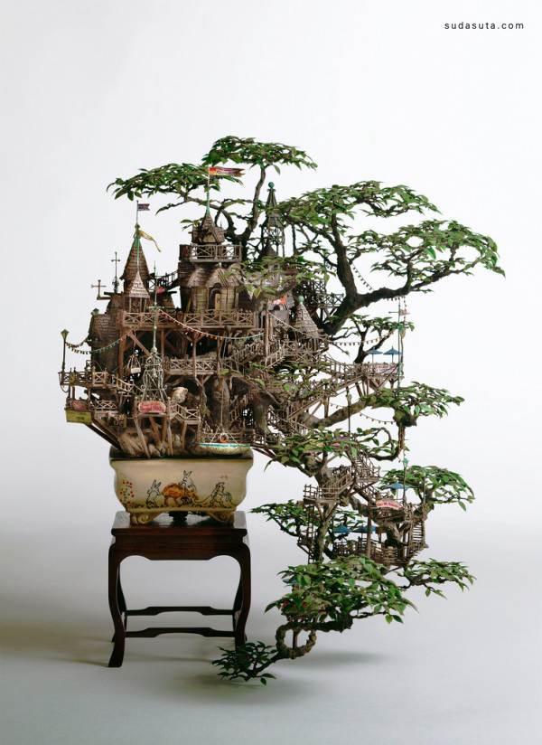 Takanori Aiba 树屋盆栽设计欣赏 - 苏打苏塔设计量贩铺 – sudasuta.com – 每日分享创意灵感!