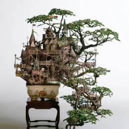 Takanori Aiba 树屋盆栽设计欣赏