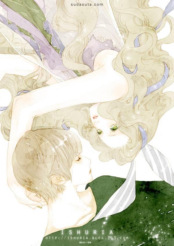 清新/来自阿亚亚(涂鸦王国)的一组清新水彩插画欣赏,一组唯美浪漫...