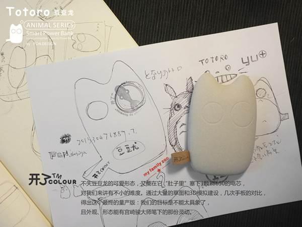 龙猫 移动电源/女孩子的新春礼物豆豆龙猫移动电源