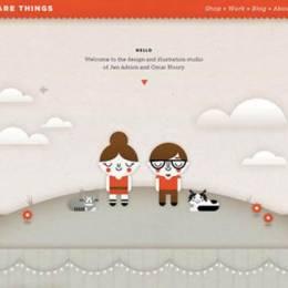 带有幻灯片滑块(slider)设计的创意网站