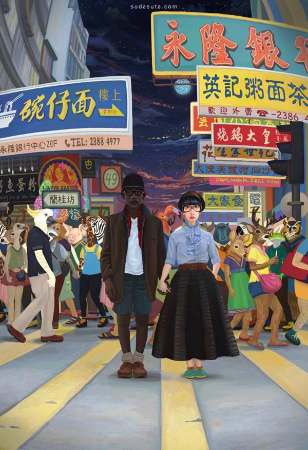 元熙 原创插画欣赏 - 苏打苏塔设计量贩铺 – sudasuta.com – 每日分享创意灵感!