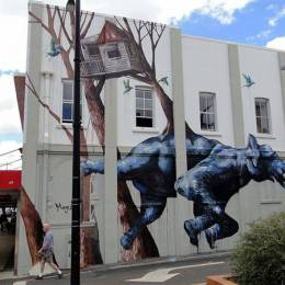 Fintan Magee 城市街头涂鸦欣赏