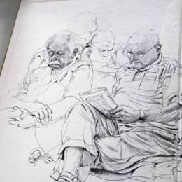 James Jean 手绘草图本子