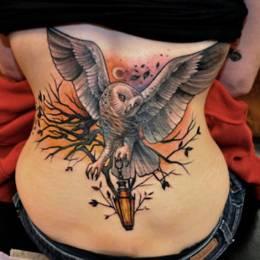 猫头鹰 创意纹身设计欣赏