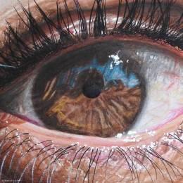 Redosking 超现实主义彩色铅笔眼睛