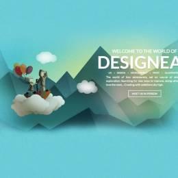 带有细腻纹理和图案的创意网页设计欣赏
