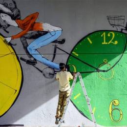 Mart 街头自行车主题涂鸦
