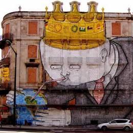 Blu 超现实主义街头艺术家