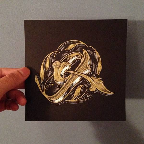 欣赏 手写/这是一组优雅迷人的手写花体字,来自于纽约自由插画家和设计师...