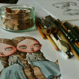Maria Tiurina 十二星座主题手绘插画欣赏