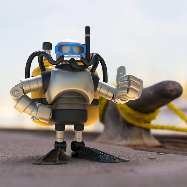 卡通/Steve Talkowski 超级酷的卡通机器人设计