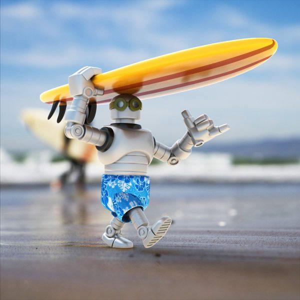 卡通 机器人/Steve Talkowski 超级酷的卡通机器人设计