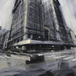 Valerio D'Ospina 油画作品《模糊城市》