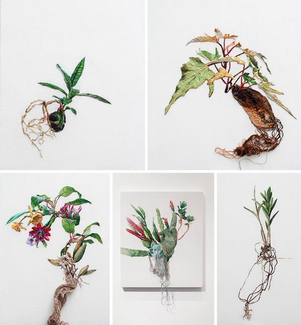 Ana Teresa Barboza 创意手工刺绣作品欣赏