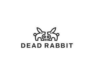 创意LOGO设计欣赏 疯狂的兔子