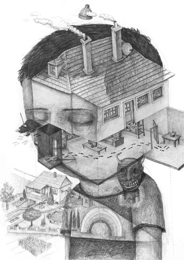 Stefan Zsaitsits 梦魇般的肖像插画 - 苏打苏塔设计量贩铺 – sudasuta.com – 每日分享创意灵感!