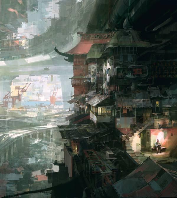 Theo Prins 抽象概念场景插画欣赏 - 苏打苏塔设计量贩铺 – sudasuta.com – 每日分享创意灵感!