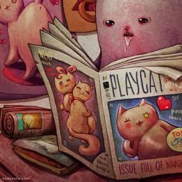 Maria Tiurina 邪恶的猫咪 插画作品欣赏