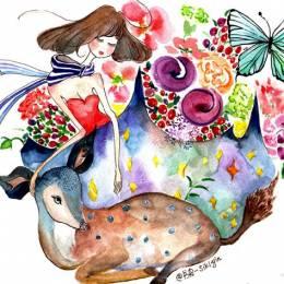 书皮-SIKIYIN 插画工作室 清新可爱的水彩插画